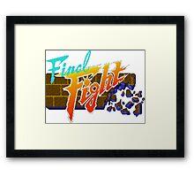 Final Fight (SNES) Title Screen Framed Print
