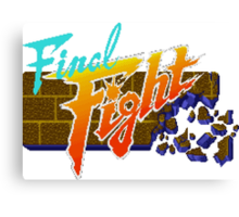 Final Fight (SNES) Title Screen Canvas Print