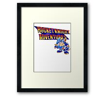 Rocket knight Adventures (Snes) Title Screen Framed Print