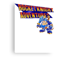 Rocket knight Adventures (Snes) Title Screen Canvas Print