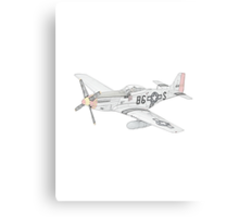 North American Aviation P-51 Mustang Canvas Print