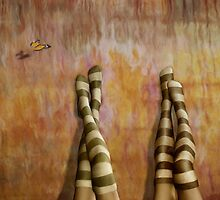 Girl Talk * Striped Socks by AnaCBStudio