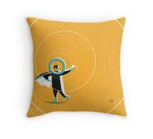 Super O (m) Throw Pillow