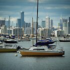Melbourne City behind the Boats in the Bay - Vic. Aust. by EdsMum