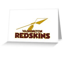Washington Redskins Greeting Card
