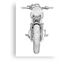 Motorcycle Front Metal Print