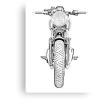 Motorcycle Front Canvas Print