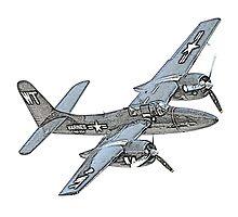 Grumman F7F Tigercat Airplane by surgedesigns