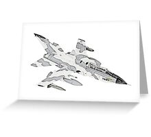 Panavia Tornado jet airplane Greeting Card