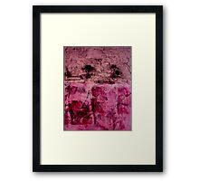 Monotype Rose Framed Print