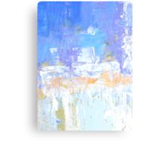 Blue aqua abstract no 45 Canvas Print