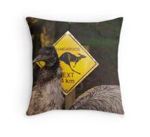 Kangaroos Next 14 km Throw Pillow