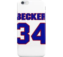 Basketball player Arthur Becker jersey 34 iPhone Case/Skin