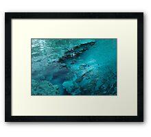 Blue Spring Boil Framed Print