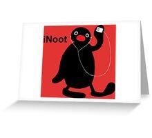 iNoot - Pingu iPod Silhouette Greeting Card