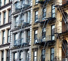 NYC Fire Escapes in Color by PBergePhoto
