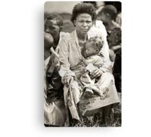 'Compassion in hell,' Northern Rwanda  Canvas Print