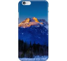 Winter sunrise mount Begbie  iPhone Case/Skin