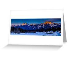 Winter sunrise mount Begbie  Greeting Card