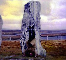 Handstand on the Callanish Standing Stones. by santakaoss