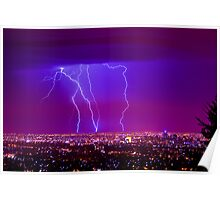 Lightning over Adelaide Poster