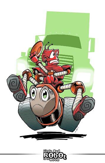 Little Red Robot by quigonjim