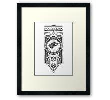 House Stark (Black) Framed Print