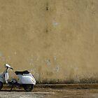 Vespa In Rustic Italy by Leonard Owen
