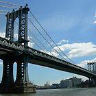Manhattan Bridge Facing Brooklyn by Leonard Owen
