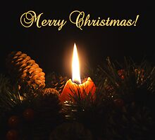 Christmas Candle by Martie Venter