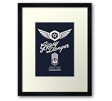 Gipsy Danger (White) Framed Print