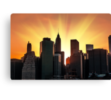 Sunset in New York City Canvas Print