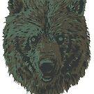 Bear camo tshirt by weirdbird