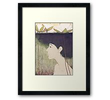 mermaid with lily Framed Print