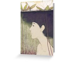 mermaid with lily Greeting Card