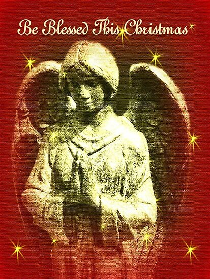 Be Blessed This Christmas Angel by Marie Sharp