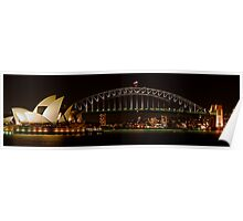 Harbour and Opera House Close Panorama  Poster