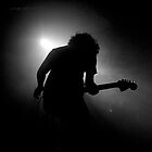 Bass Player Silhouette by Daniel Boud