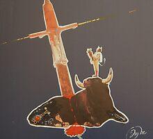 mort d'un toro au clair de lune.. by J-M MACIAS