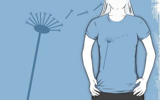 Dandelion wish in Blue by maiboo