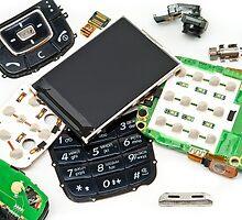 disassembled phone  by bashta