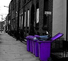 Purple bins by Elouisa Georgiou
