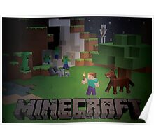 Minecraft - Dangers in the night Poster