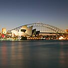 Sydney Icons - Opera House and Harbour Bridge by Philip Wong
