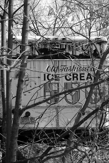 old ice cream truck by Roslyn Lunetta