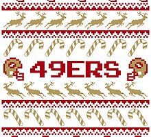 49ers Football Christmas Ugly Sweater T Shirt by CosmikMonkey