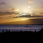 Waikiki Sunset by dcruzin