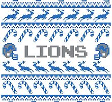 Lions Football Christmas Ugly Sweater by CosmikMonkey
