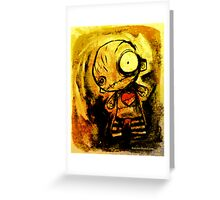 Milo the Little Broken Hearted Stitch-Doll Greeting Card