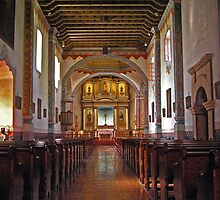 Chapel at MIssion San Luis Rey by Chuck Cannova